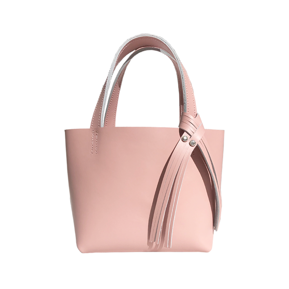Pink Leather Mini Tote 13 – Two Crystals