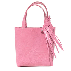 Pink Croc Leather Tote 7 – Fringe Swarovski Design + Bag Accessories