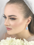 Bride Wearing Crystal Jewelry Earrings