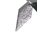 Double Sided Metallic Leather Pyramid Shape