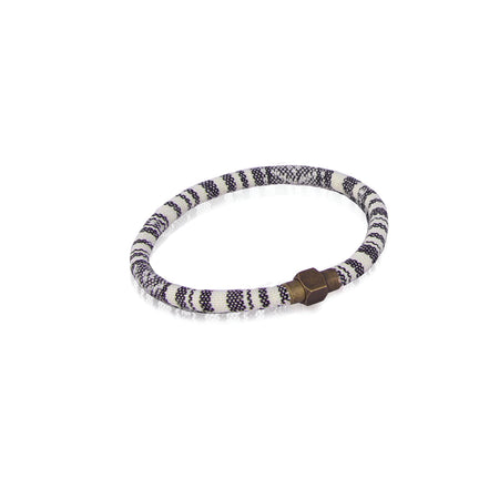 Grey and white baja bracelet