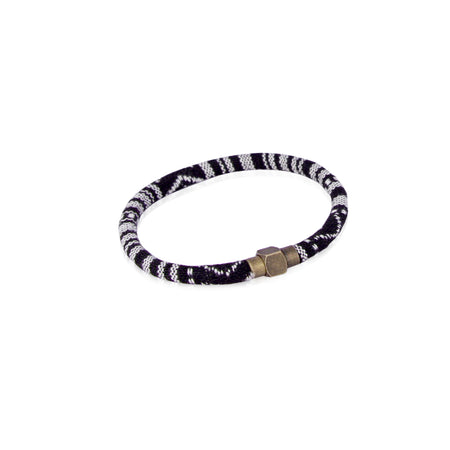 Black and white baja bracelet