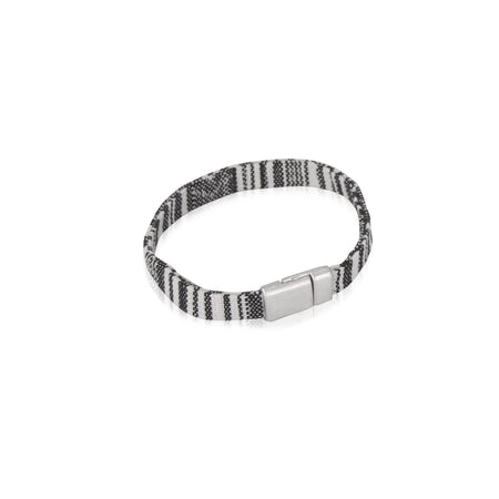 Flat grey and white baja bracelet