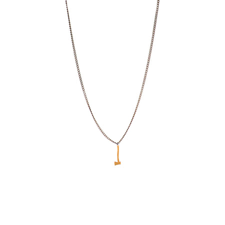 Brass and gold axe necklace