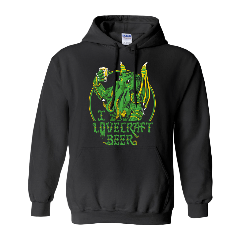 f0d683c89 I Lovecraft Beer - Pullover Hoodie – Ian Leino Design, Inc