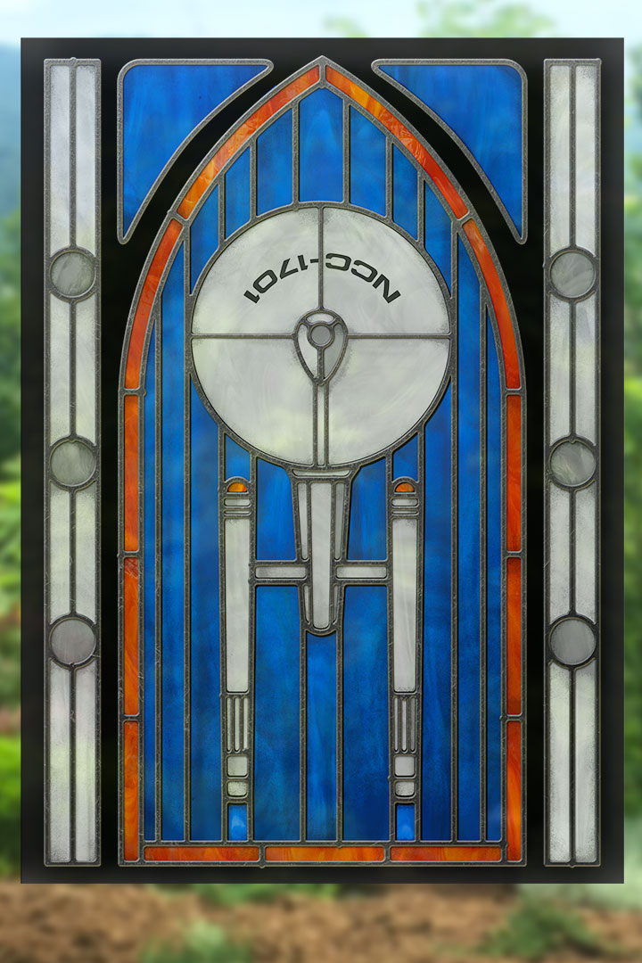 Enterprise - Stained Glass window cling