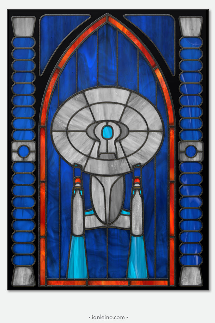 Enterprise D - Stained Glass window cling