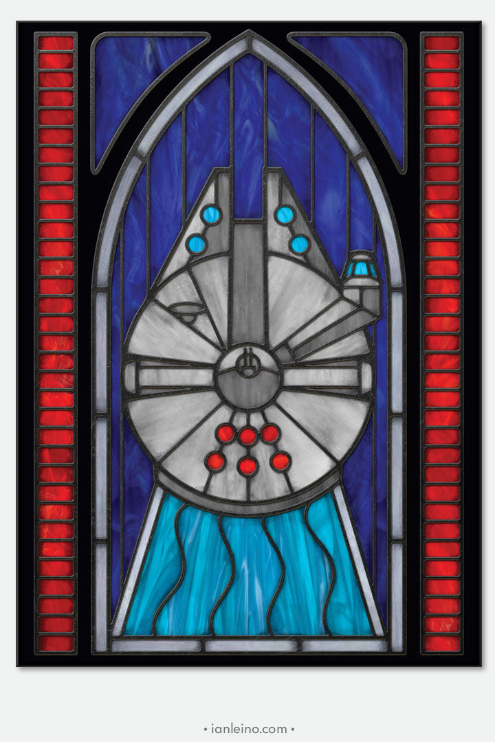 Millennium Falcon - Stained Glass window cling