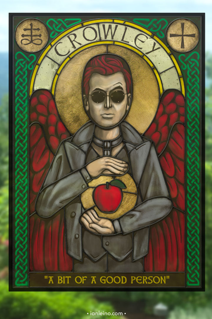 Crowley Icon - Stained Glass window cling