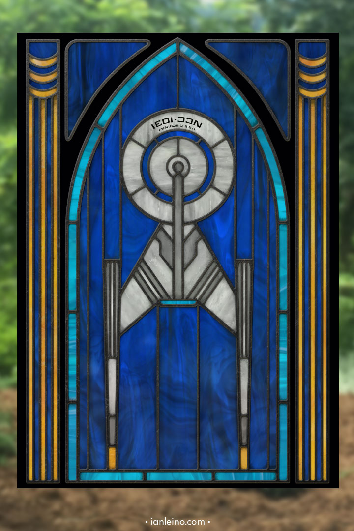 Discovery - Stained Glass window cling