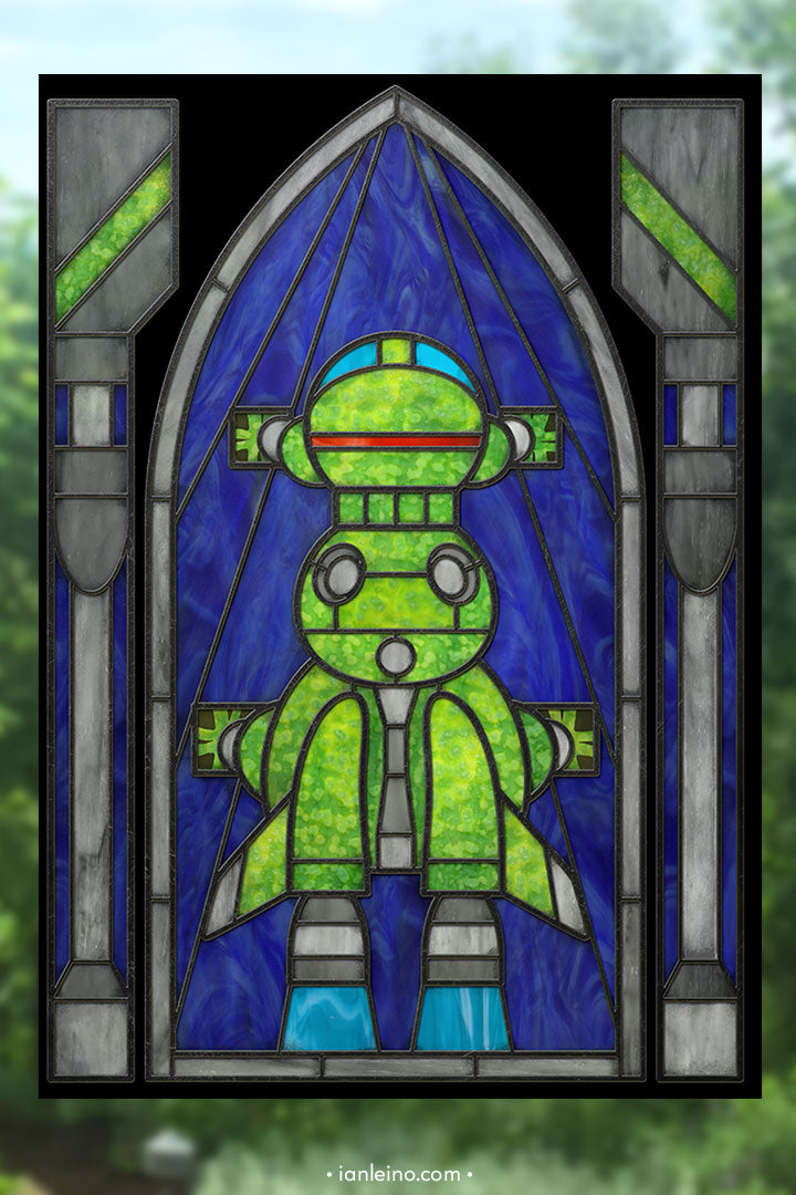Starbug - Stained Glass window cling