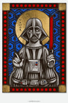Darth Vader - icon style Stained Glass window cling