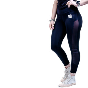 Women's Panelled Leggings - Black