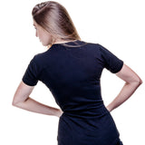 Women's Curved Hem Tee - Black