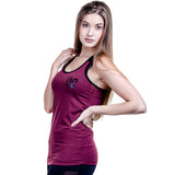 Women's Two-Tone Vest - Burgundy/Black