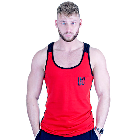 Two-Tone Longline Stringer - Cardinal Red/Black