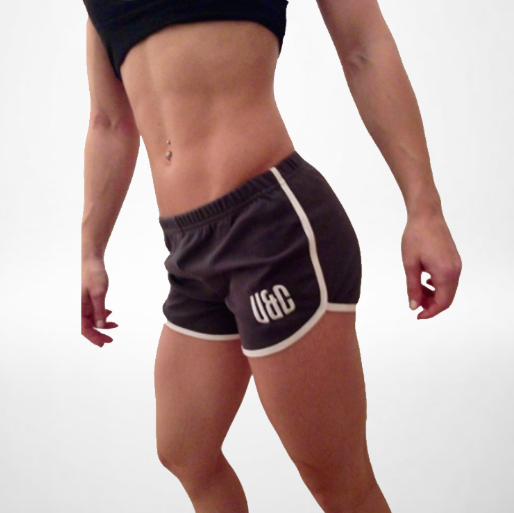 Women's Shorts - Grey/White
