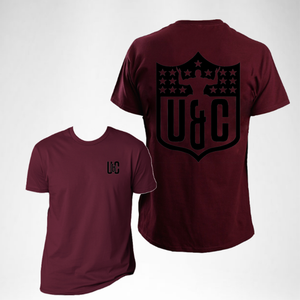 Shield Tee - Maroon