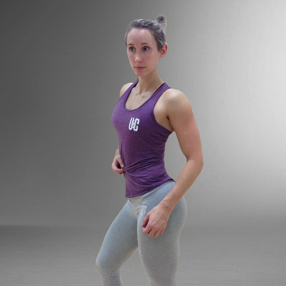 Women's Tri-Blend Racerback - Purple