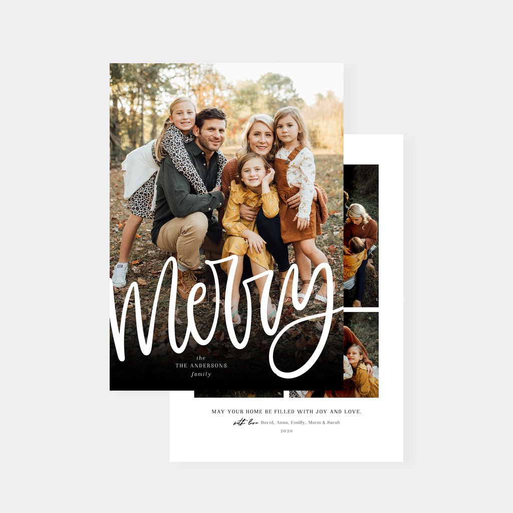 Modern Type - Christmas Card - Salsal Design