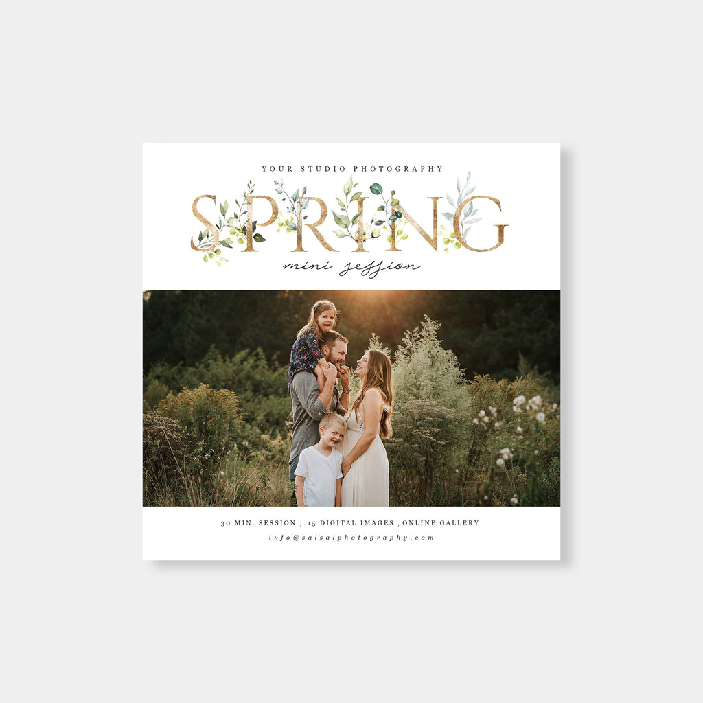 Gold Foil - Spring Mini Session Template - Salsal Design