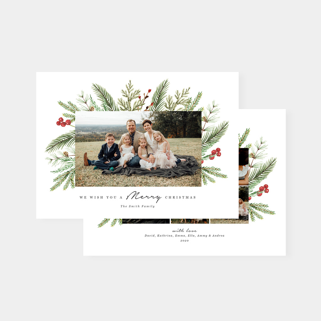 Merry Berry | Horizontal - Christmas Card - Salsal Design
