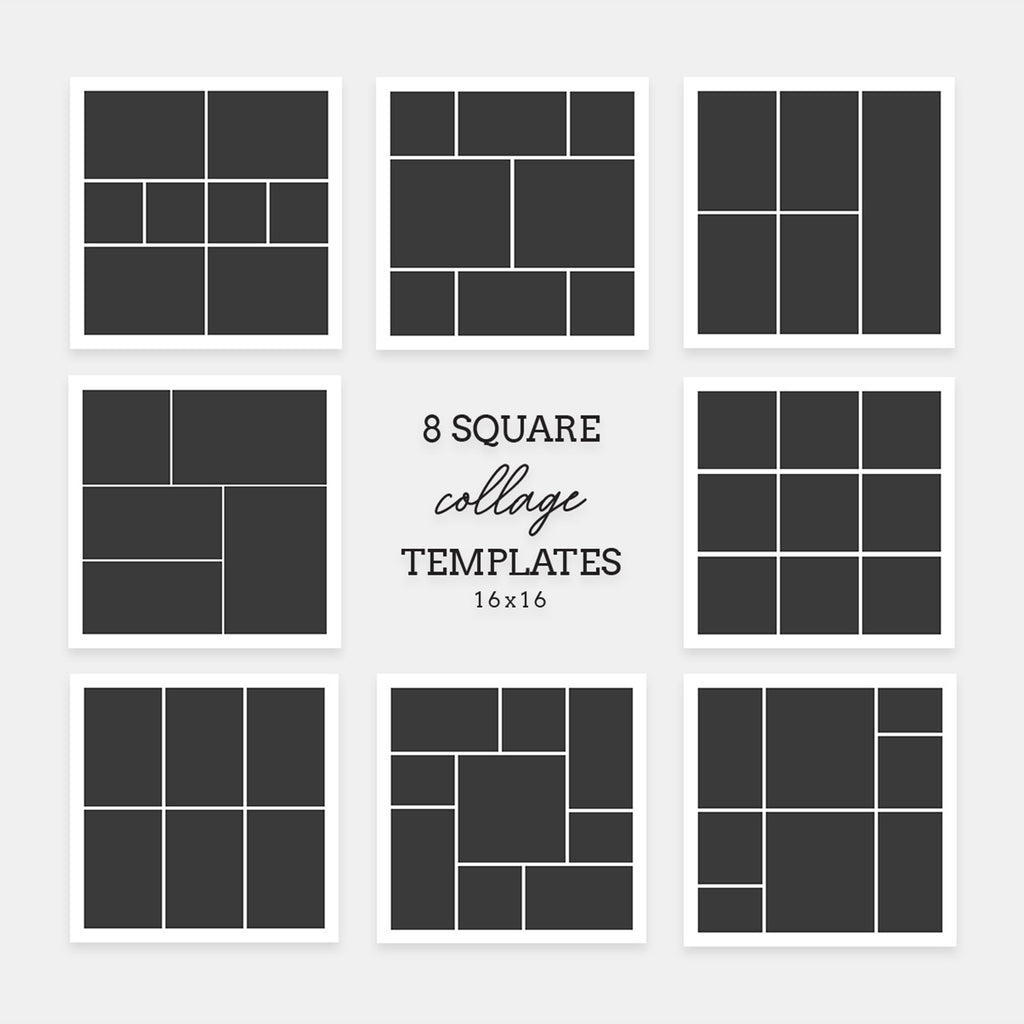 Square 16x16 - Collage Template - Salsal Design