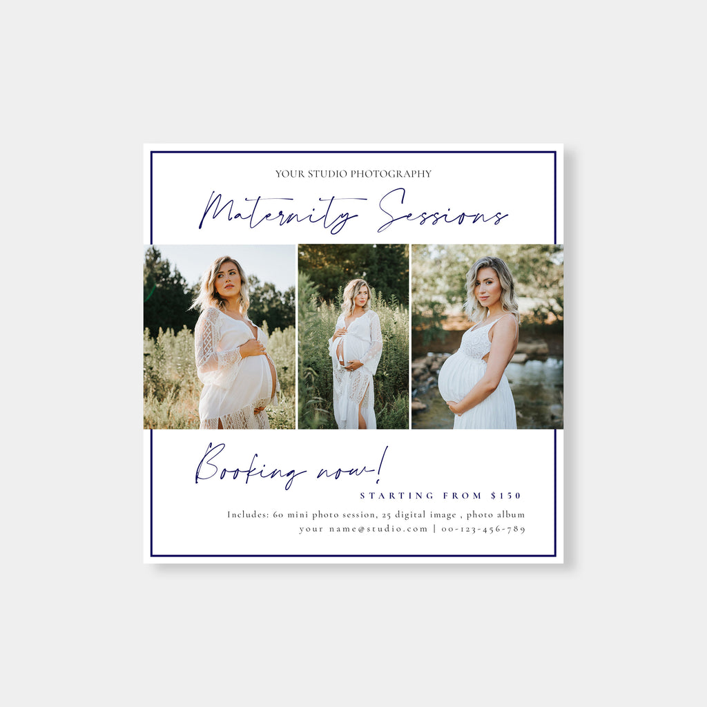Blue Ink - Maternity Mini Session Template - Salsal Design