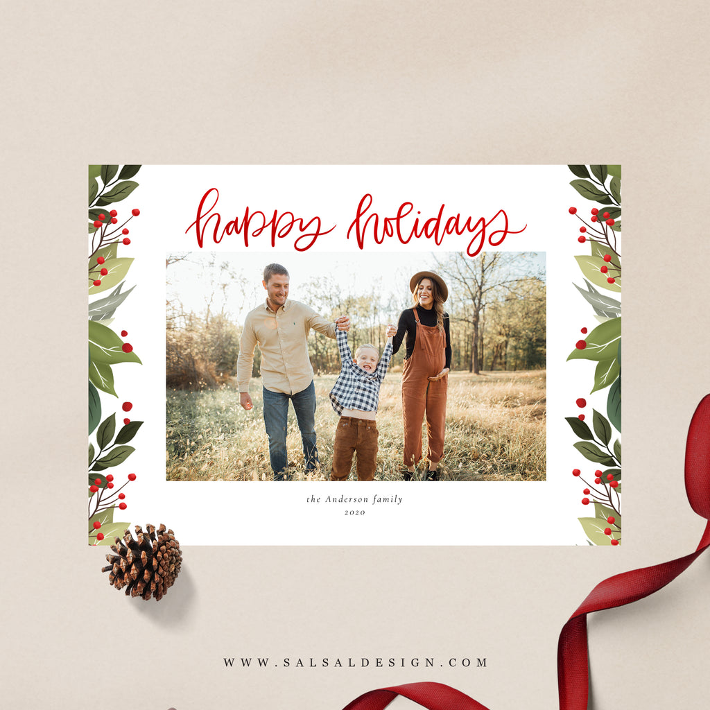 Red Typographic - Holiday Card-Template-Salsal Design