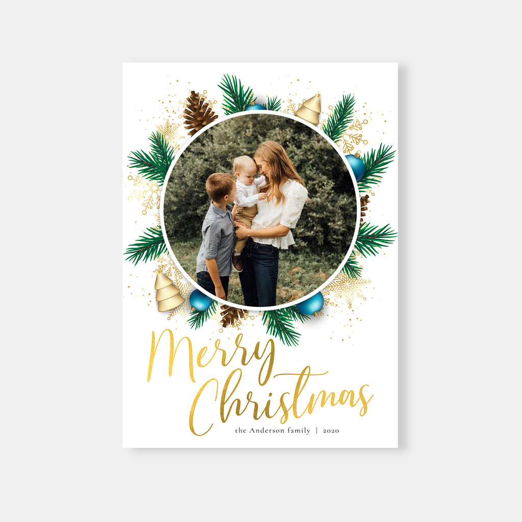 Winter Gardens - Holiday Card-Template-Salsal Design