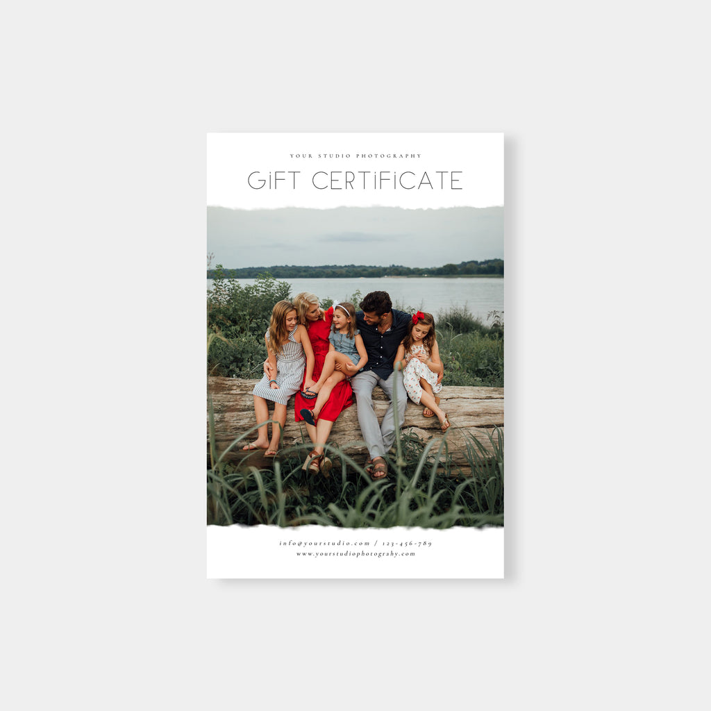 Lovely Gift - Photographer Gift Certificates Template-Template-Salsal Design