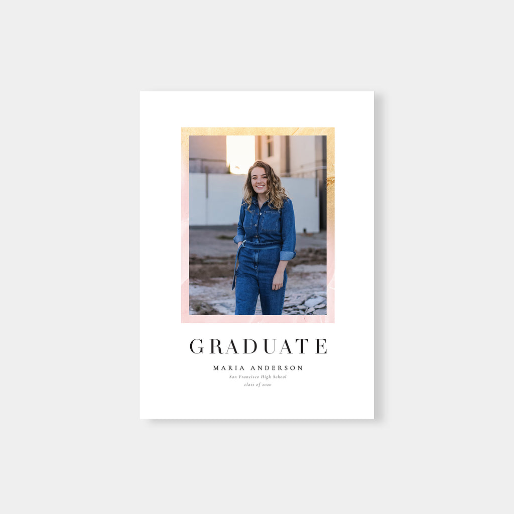 Painterly Frame - Graduation Announcement Template-Template-Salsal Design