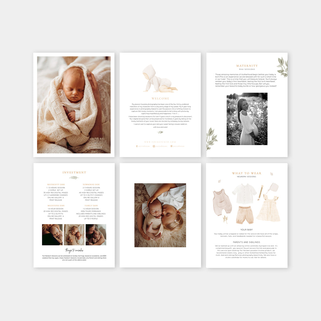 Sunrise - Newborn Magazine Template-Template-Salsal Design