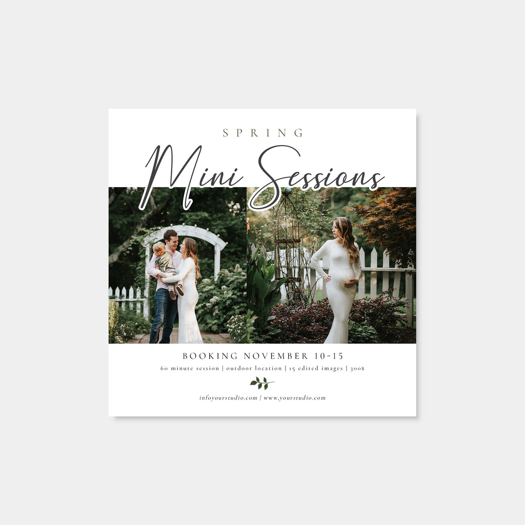 Happiness - Spring Mini Session Template-Template-Salsal Design