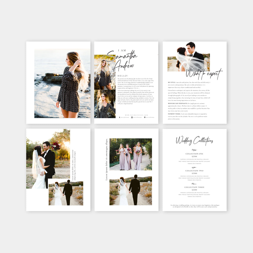 Amelia- Wedding Magazine Template-Template-Salsal Design