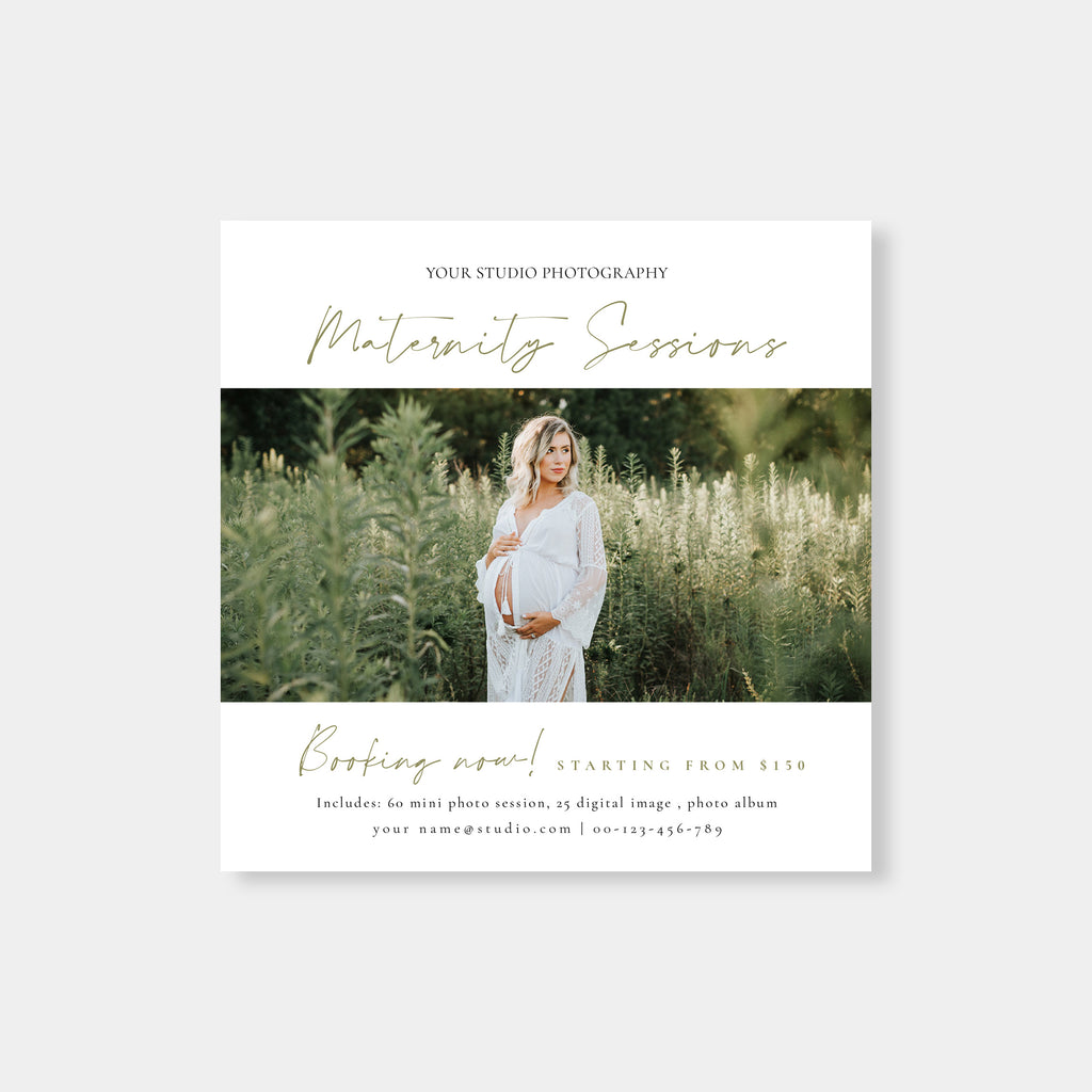 Nature - Maternity Mini Session Template - Salsal Design