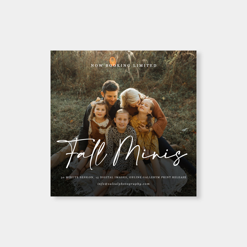 Sweet Family - Fall Mini Session Template - Salsal Design