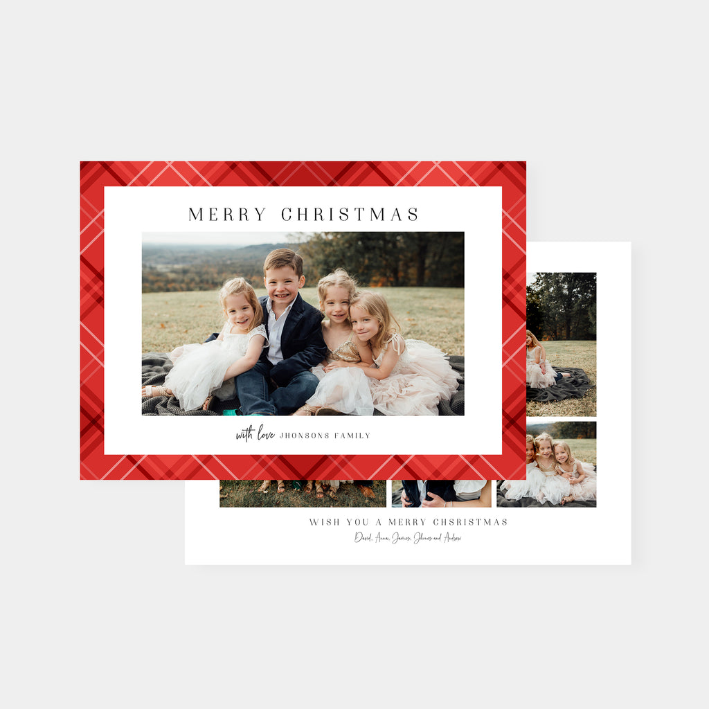 Pretty Red - Christmas Card-Template-Salsal Design