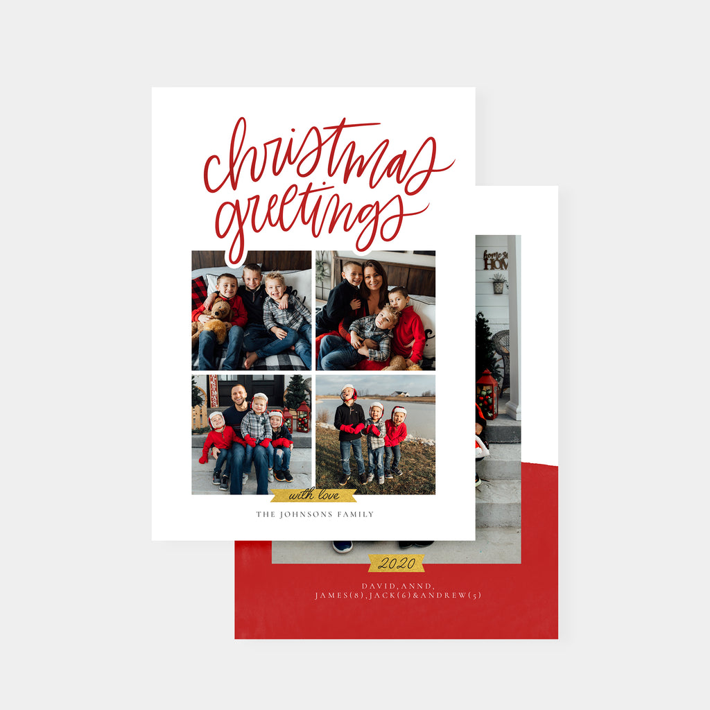 Christmas Greetings - Christmas Card - Salsal Design