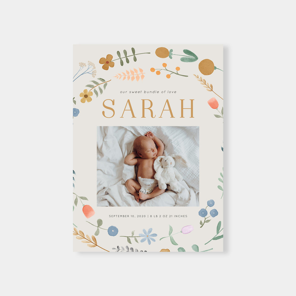 Sunrise - Birth Announcement Template-Template-Salsal Design
