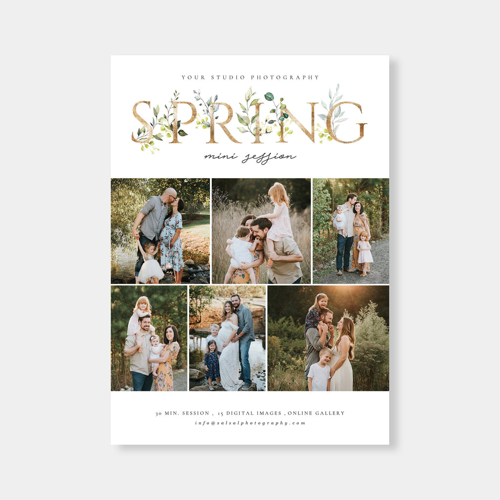 Spring Foil - Spring Mini Session Template - Salsal Design