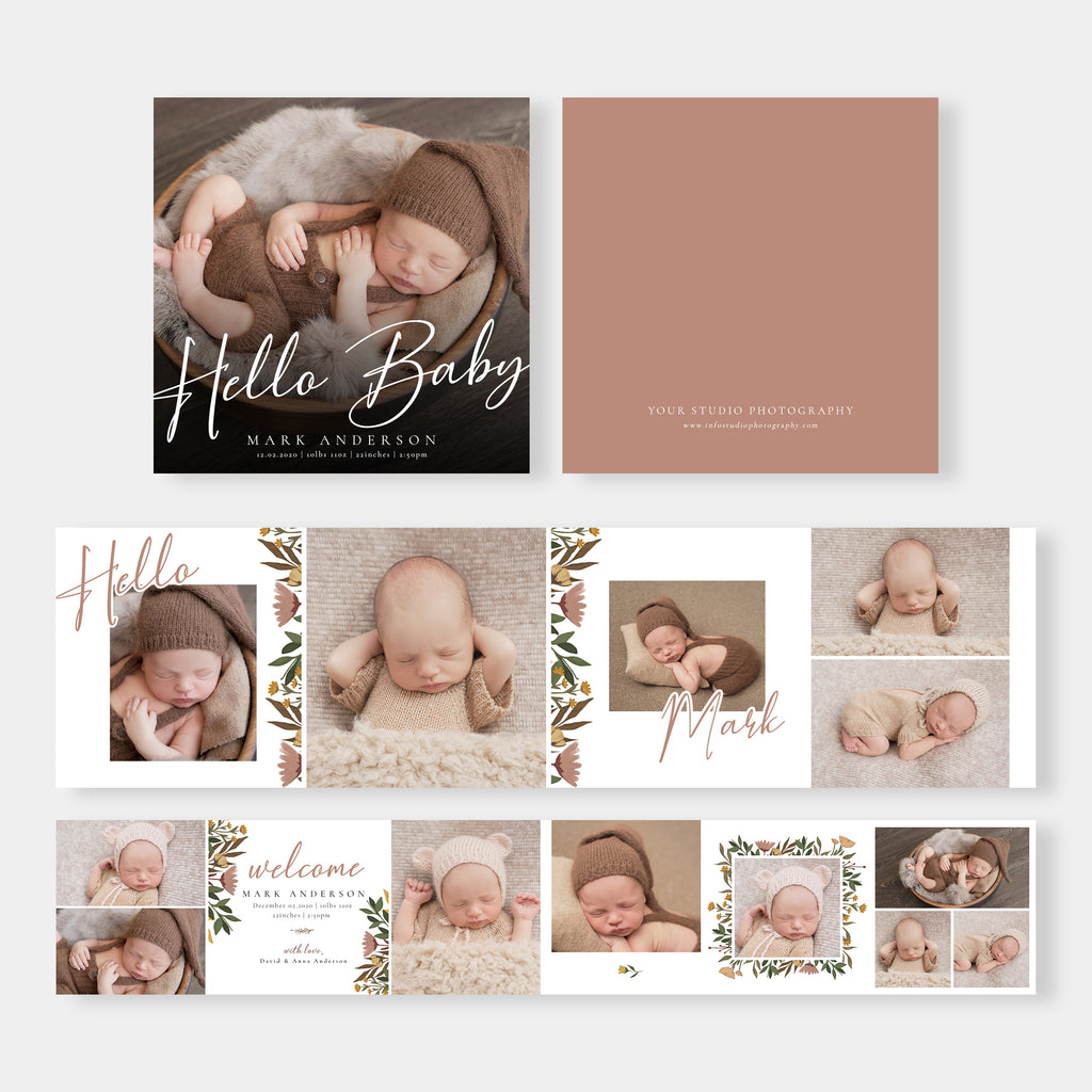 Sweet Baby - Newborn Mini Accordion Album Template-Template-Salsal Design