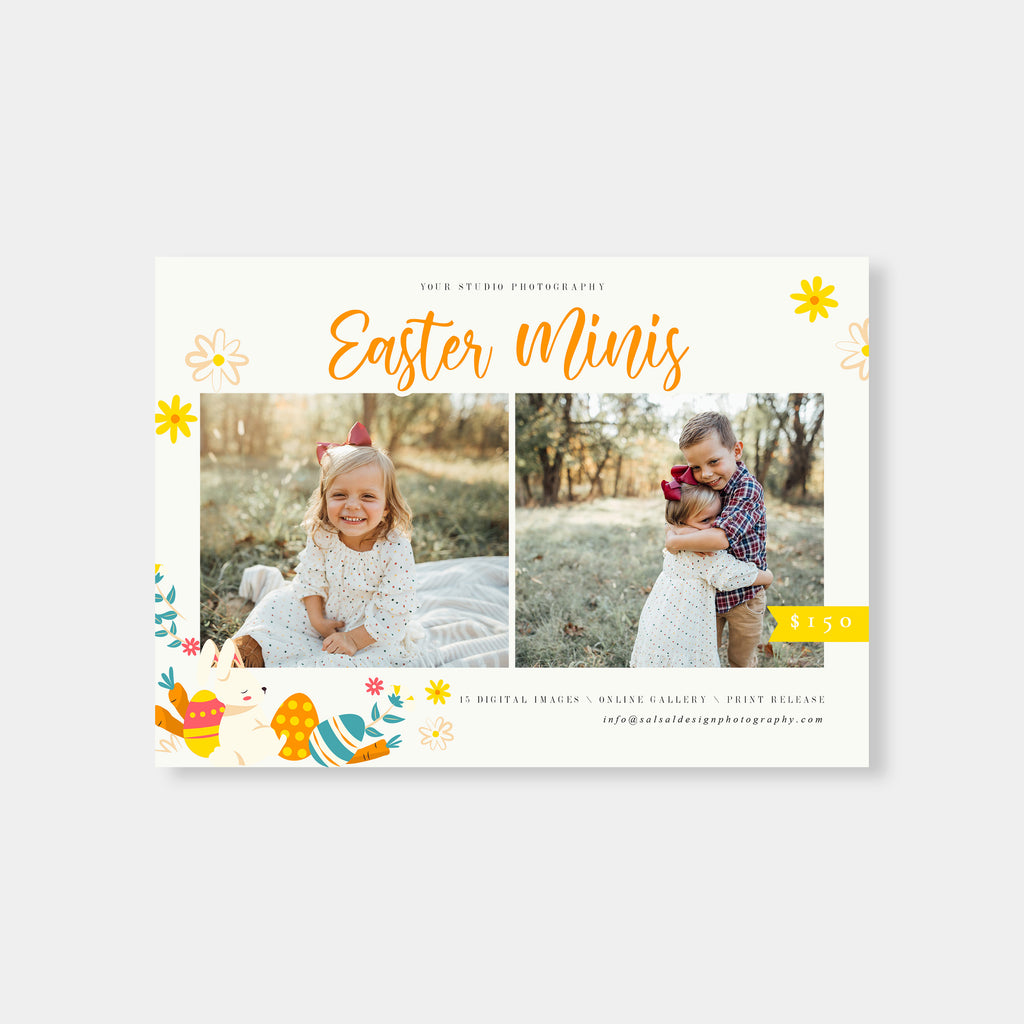 Easter Vibes - Easter Mini Session Template - Salsal Design