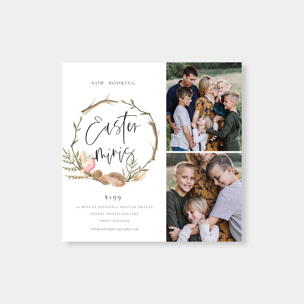 Easter Tree - Easter Mini Session Template - Salsal Design