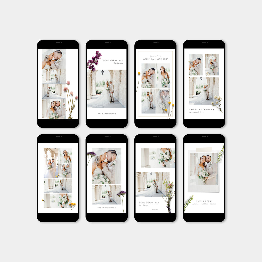 Floral - Wedding Instagram Story - Salsal Design