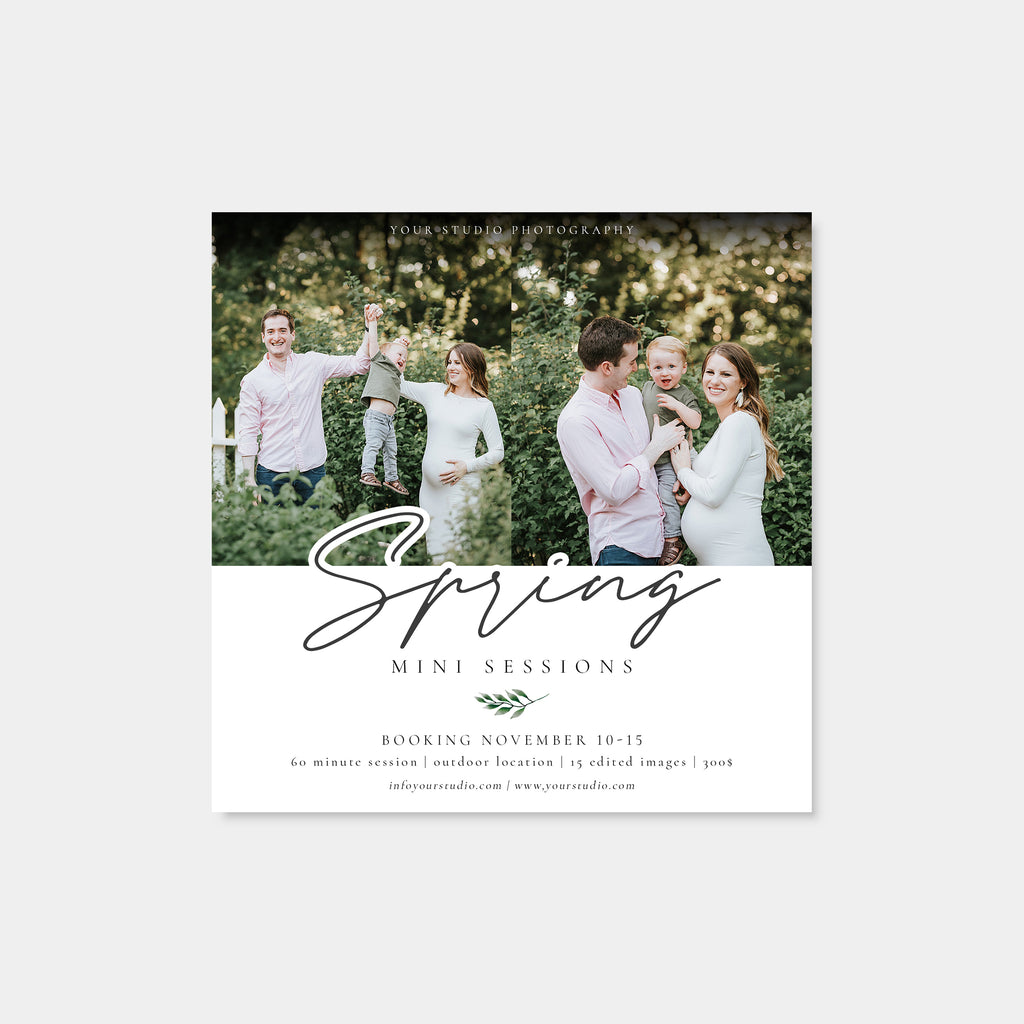 Happy Family - Spring Mini Session Template-Template-Salsal Design
