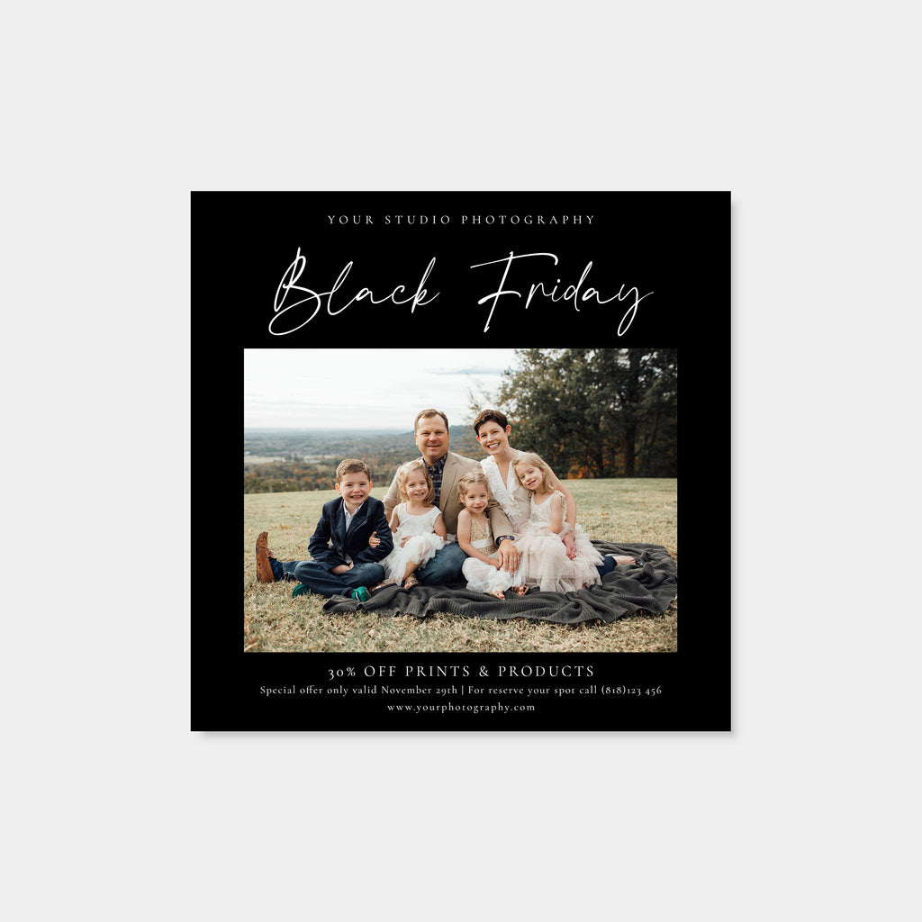 Friday Deals - Black Friday Christmas Mini Session Template-Template-Salsal Design