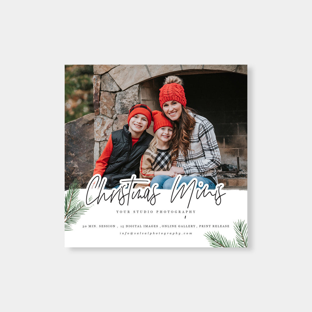 Pine - Christmas Mini Session Template - Salsal Design