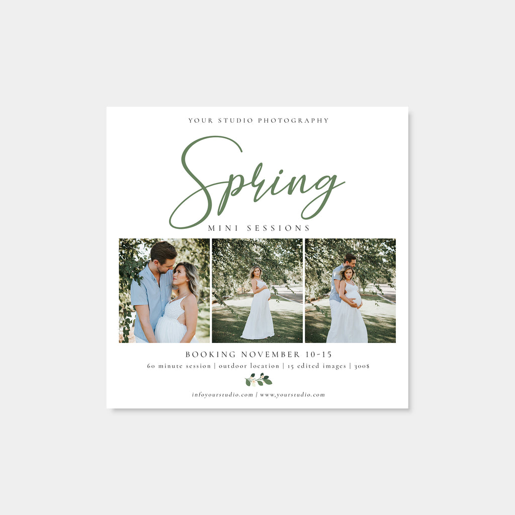 Spring Blossoms - Spring Mini Session Template-Template-Salsal Design