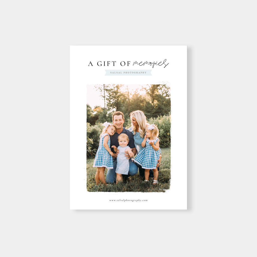 Memories - Photographer Gift Certificates Template - Salsal Design